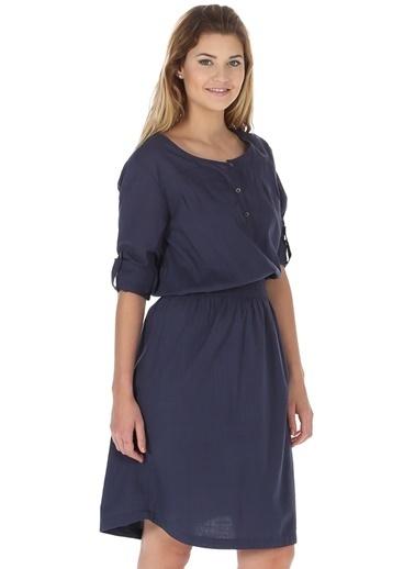 Asymmetry Elbise İndigo